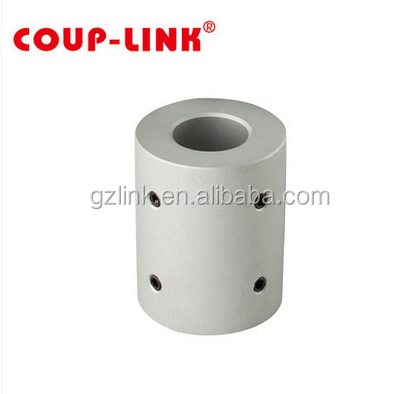 Rigid setscrew type shaft coupling with light weight aluminum alloy