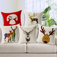 Wholesale printed deer design cushion covers