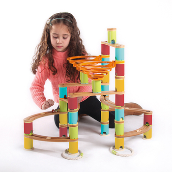 MIDEER MD5001 Bamboo Build Hot Sale 91pcs Ball Track Toy Building Block Toy For Kids