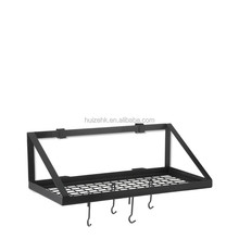 Wall System Pot & Pan Rack with 4 Hooks