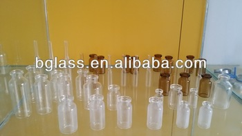tubular glass vial for injection with different size