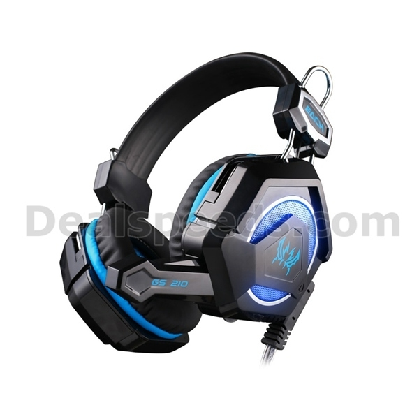 GS210 Wired Stylish Computer Gaming Headphone Headset with Mic