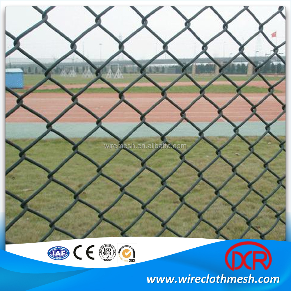 Pvc coated stainless steel wire mesh chain link fence