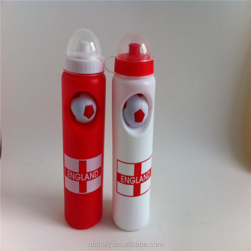 Unbreakable eco friendly soccer disposable water bottles