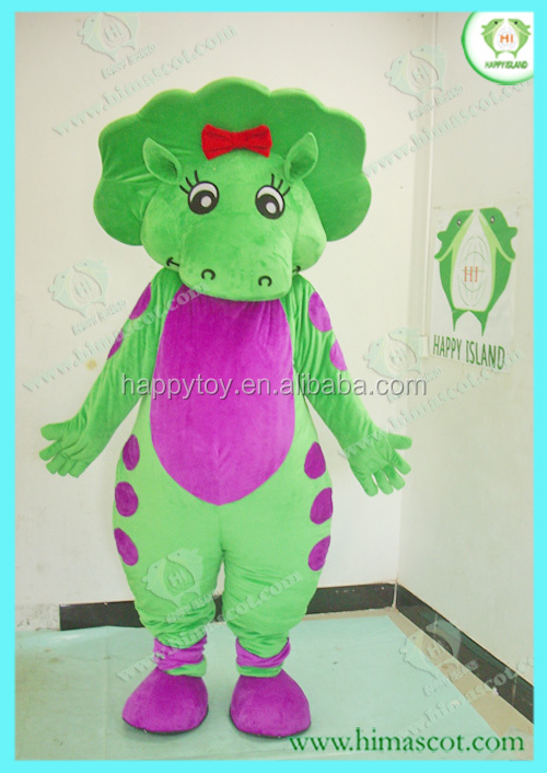 HI CE cool adult cosplay mascot Barney dinosaur costume,Barney and his friends