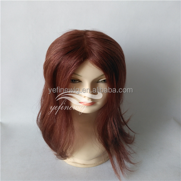 High Quality Human Hair Womens Toupee