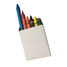 Hot Sale Custom Your Logo Color Jumbo Crayon, 6 Counts In Paper Box