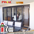 China supplier aluminum bedroom bifolding door models in chinese factory
