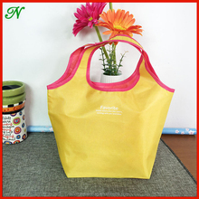 High quality custom recycled foldable promotional polyester bag/Wholesale polyester shopping bag
