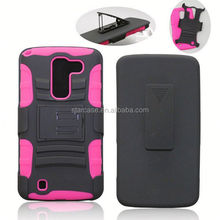 Tpu + PC belt clip heavy duty kickstand protector case cover for Kyocera hydro icon C6730 life C6530