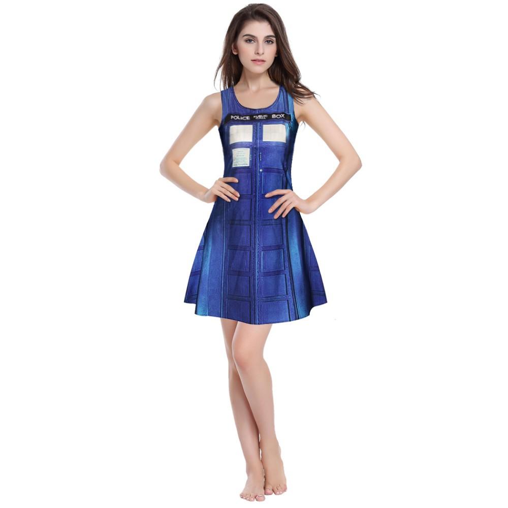 Hotsale moda digital plissada impresso mulheres vestido