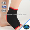 black binding elastic soft neoprene sock ankle brace
