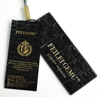 Customized gold foil hang tag