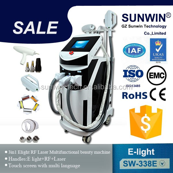 super ipl shr laser+elight+nd yag long pulse laser +forever hair removal beauty laser for beauty spa and hospital