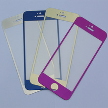 Colorful mobile phone Mirror Tempered Glass Screen protector/film for iPhone 6 /6 Plus/6S/7