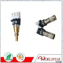 75ohm rf connector 1.6/5.6 female solder 90 degree for 2.5C-2V cable