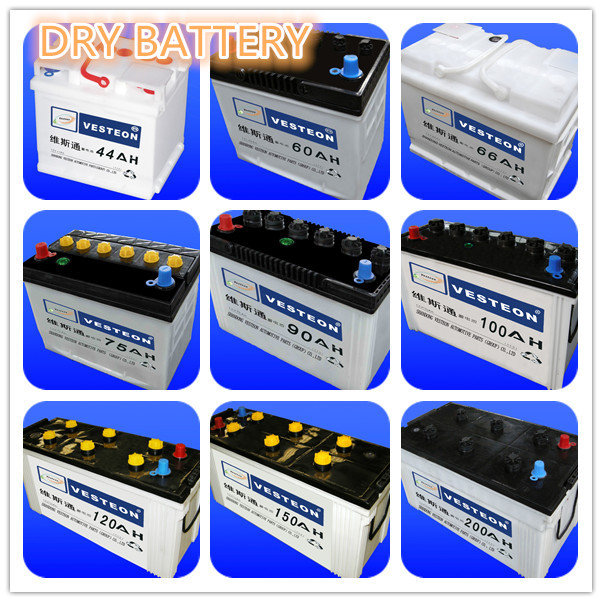 12V lead acid korean design battery DRY and MF from 32ah to 250 ah