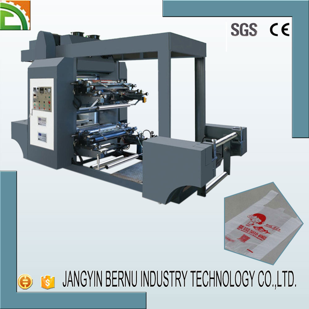 Best sale high speed 2 colour flexo printing machine price with water ink
