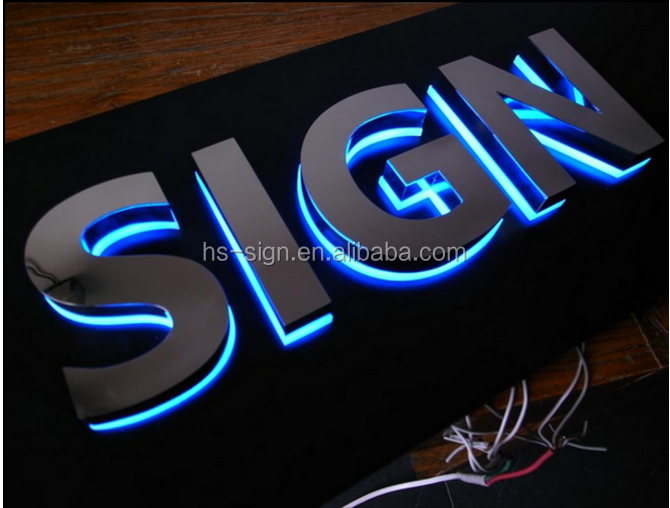 Shop Front Halo Lit LED Channel Letter Sign Board
