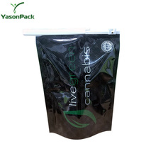 Yason hot microwave cooking /retort pouch/microwave bag with slide zipper ldpe slider zipper bag matte black printed standup zi