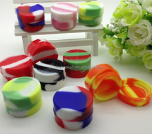 Hot selling e cig wax silicone case, Food grade silicone jars dab wax container