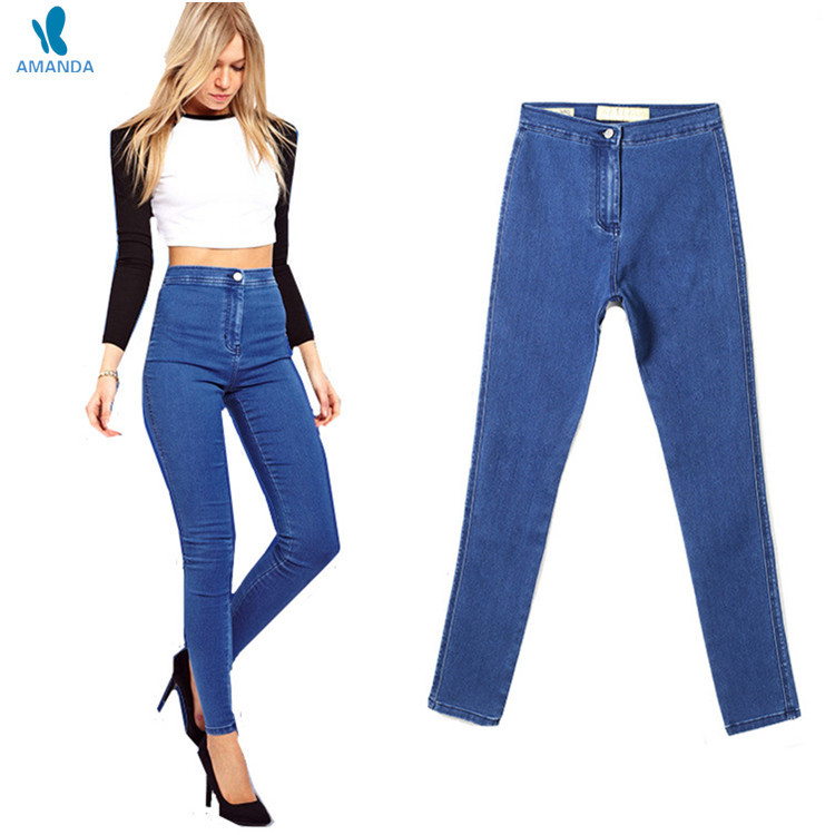 11ec5e095e Buy High waist jeans for women casual stretch skinny pencil pants ladies  jeans destroyed women pants plus size pockets female jeans in Cheap Price  on ...