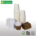 12 oz Hot Drink Paper Cups with Lids and Sleeves, 100 sets