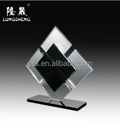 New personalized design crystal award with black base