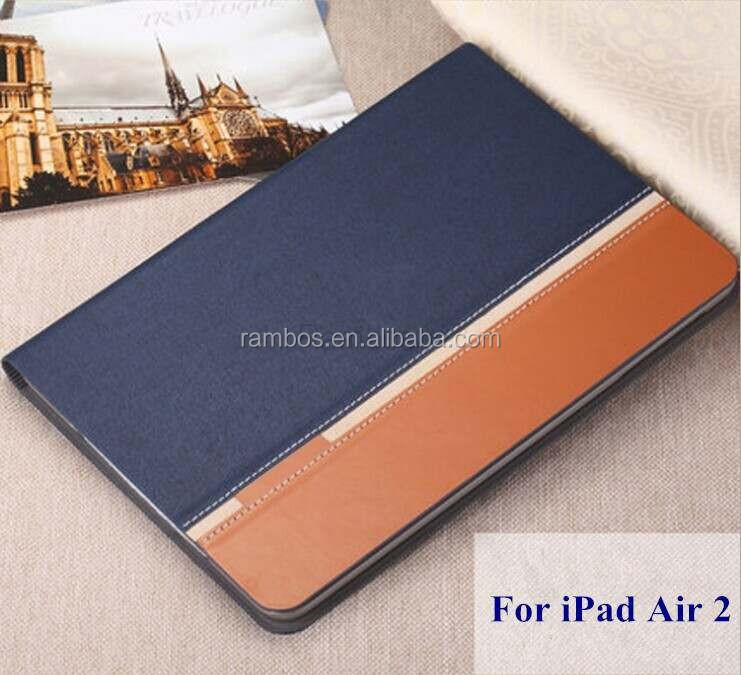 Mix color leather case with card slot Custom printed case for IPAD2/3/4