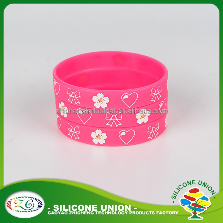 custom silicone wristband/wholesale silicone rubber bracelet/personalized wrist rubber bands