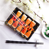 Transparent Lid Disposable Plastic Sushi Container