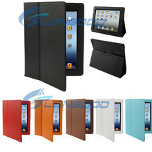 Folding Magnet Leather Cases Cover with Sleep / Wake-up function for New iPad / for iPad 3