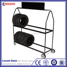 New Products Powder Coating Portable Mobile Tyre Floor Stand Display Rack For Tire Retail Shop