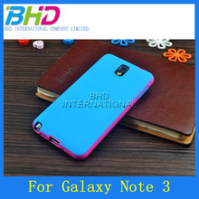 Double TPU color case back cover for Galaxy Note 3 N9000