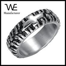 Speed Passionate Delineate Auto Tyre Stainless Steel Individuality Rings For Men