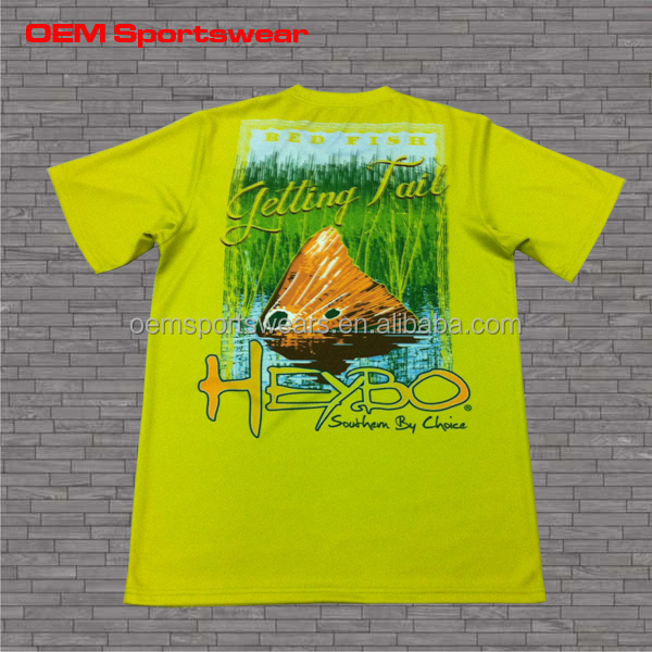Spf Fast Drying Fishing Shirts With Sublimation Printing