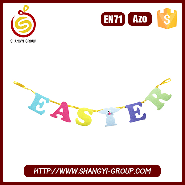 Promotional Cheap Outdoor Decoration Garland with Easter Letters