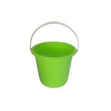 2017 Promotional Round Color Pails Cheap Customized Small Plastic Buckets with Handle for Packing and Storage