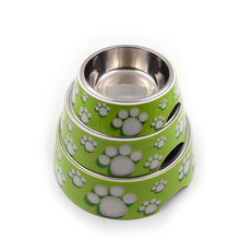 Promotion Price Wholesale Pet Melamine Stainless Steel Cocker Dog Bowl with Melamine