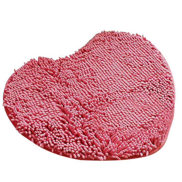 water-absorbent microfiber chenille fabric mats for bedroom
