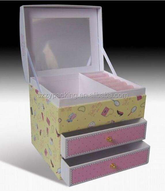 Creative design multi-drawer jewelry box, high end paper jewelry box