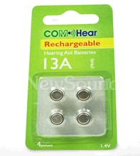 NewSound Battery Voltage 1.4V rechargeable Hearing Aid Batteries 13A