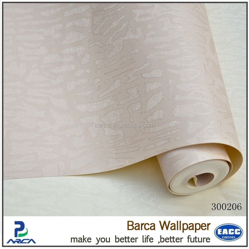 gold supplier cheap soundproof PVC Pure reflective wallpaper