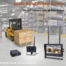 100% OEM ODM Factory 2.4GHz Digital Wireless Front Side Rear View 9 Inch Quad Screen Forklift CCTV Camera System with Monitor