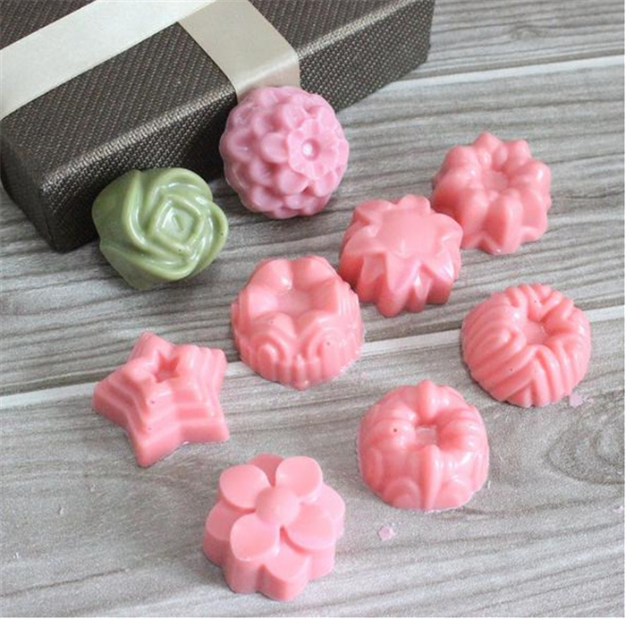 fashion flower silicone bakeware chocalate pudding cake making pops mould
