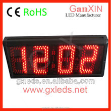 "5"" outdoor red led digital clock large wall clock"