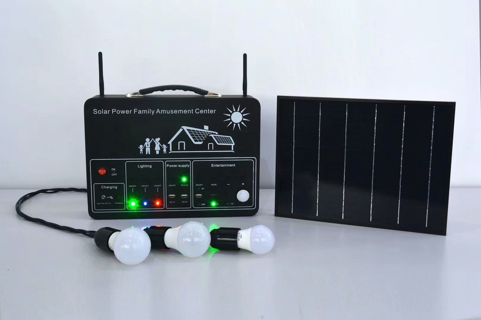 Mini Multi-function portable lithium battery solar system for house hotel solar power system home