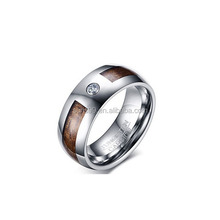 New Design 2018 Tungsten Carbide Cubic Zircon Wood Camo Inlay Domed Wedding Engagement Ring Bands