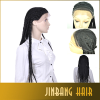 Synthetic Box Micro Braid Lace Wig Hair Braided Lace Front Wigs For Black Women African American Braided Wigs Black Women