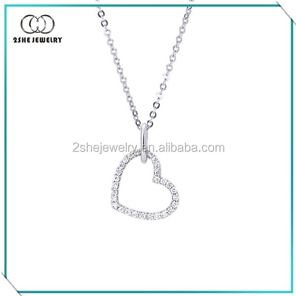 New Products Elegant heart beautiful necklaces for girlfriend